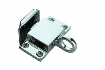 <PRE>Chrome Solid Brass Transom Window Latch </PRE>zoom3