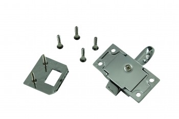 <PRE>Chrome Solid Brass Transom Window Latch </PRE>zoom5