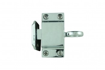<PRE>Chrome Solid Brass Transom Window Latch </PRE>zoom1