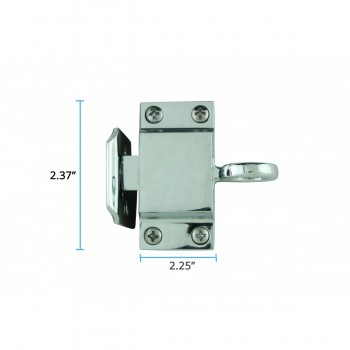 spec-<PRE>Chrome Solid Brass Transom Window Latch </PRE>