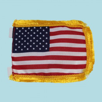 <PRE>US Flag Cotton Gold Fringe 4 1/2inchH </PRE>zoom2
