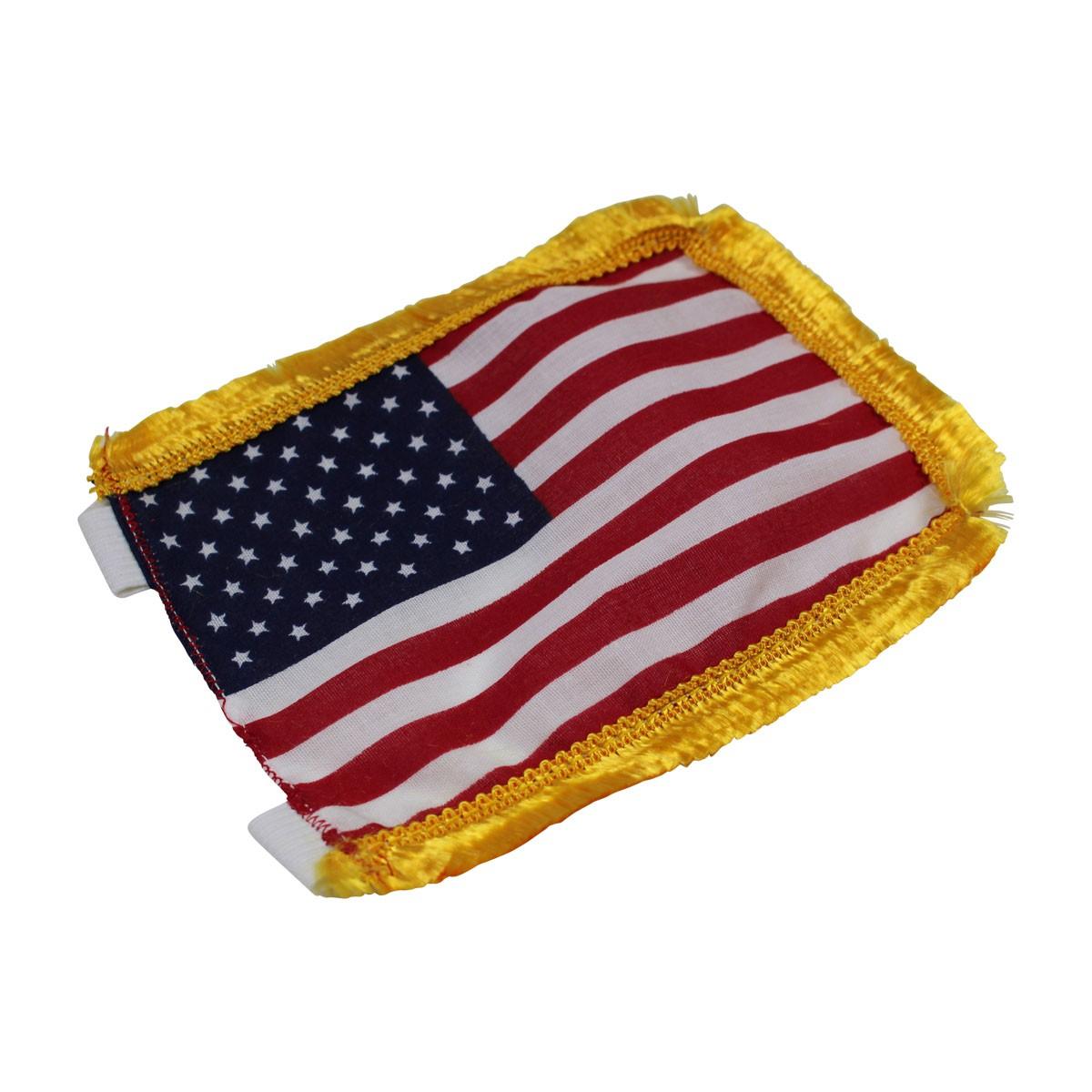 US Flag Cotton Gold Fringe 4 12H Garden Flag Outdoor Flag Flags