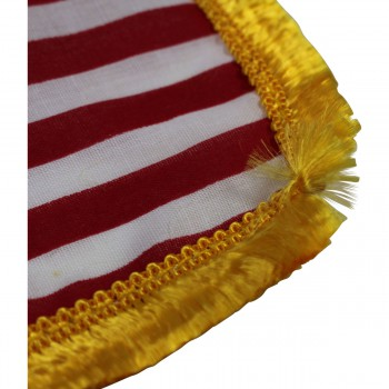 <PRE>US Flag Cotton Gold Fringe 4 1/2inchH </PRE>zoom6