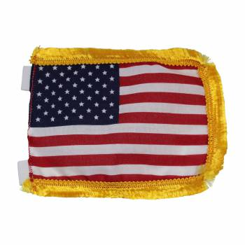 <PRE>US Flag Cotton Gold Fringe 4 1/2inchH </PRE>zoom1