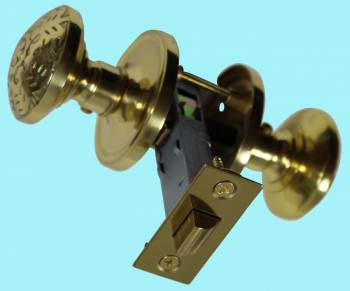 <PRE>Passage Door Knob Set Solid Brass  2 3/8inch </PRE>zoom2