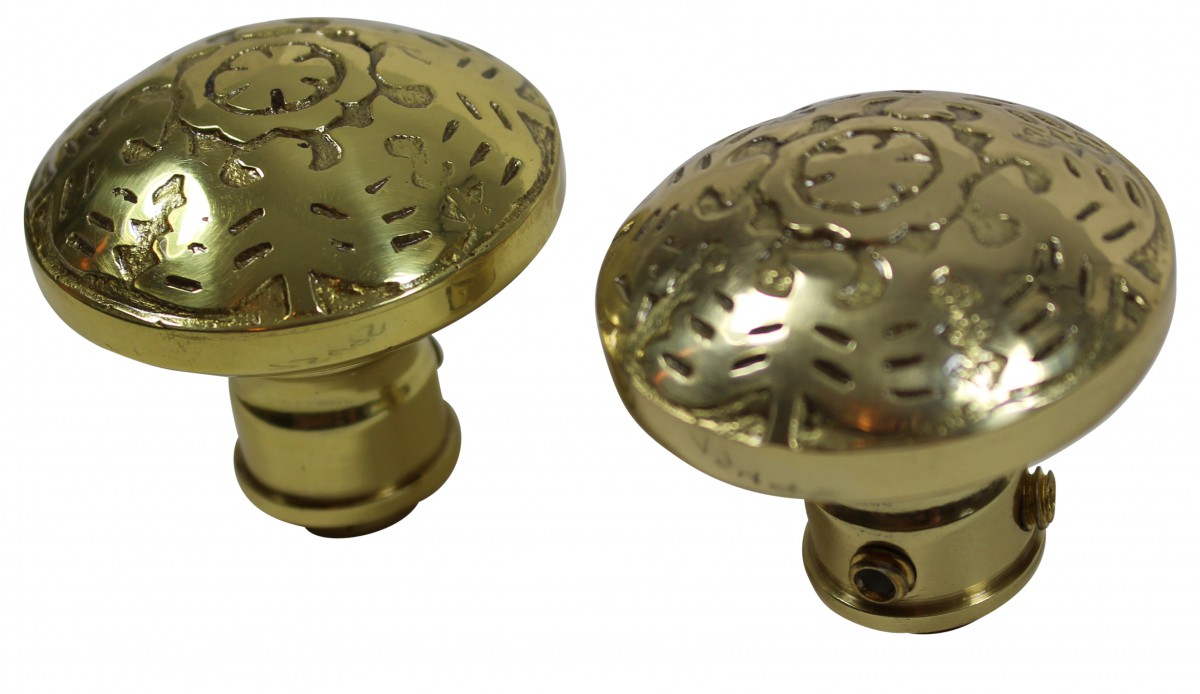 Passage Door Knob Set Solid Brass  2 38 Door Hardware Door Knob Sets Door Knob