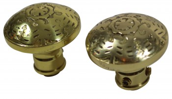 <PRE>Passage Door Knob Set Solid Brass  2 3/8inch </PRE>zoom3