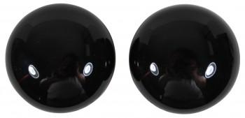 <PRE>Passage Door Knob Set Black Porcelain 2 3/8inch </PRE>zoom4