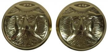 <PRE>Passage Door Knob Set Solid Brass Northwind 2 3/8inch </PRE>zoom4