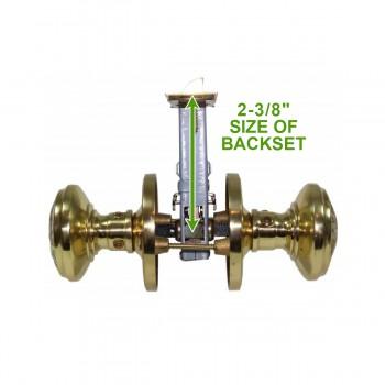 spec-<PRE>Passage Door Knob Set Solid Brass Northwind 2 3/8&quot; </PRE>