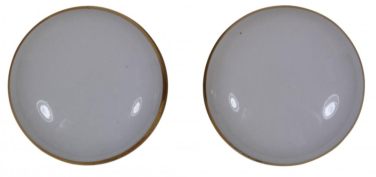 Passage Door Knob Set White  Gold Porcelain 2 38 Door Hardware Door Knob Sets Door Knob
