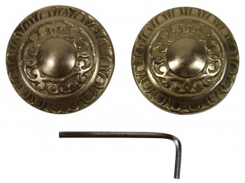 <PRE>Bright Solid Brass 2 3/8 inch Door Knob Passage Set</PRE>zoom4