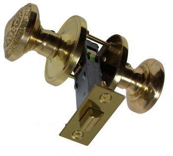 <PRE>Bright Solid Brass 2 3/8 inch Door Knob Passage Set</PRE>zoom1