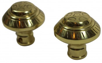 <PRE>Bright Solid Brass Six Dot 2 3/8inch Door Knob Passage Set</PRE>zoom3