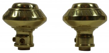 <PRE>Bright Solid Brass Six Dot 2 3/8inch Door Knob Passage Set</PRE>zoom5