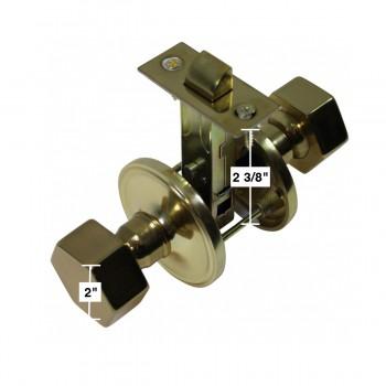 "spec-<PRE>Bright Solid Brass Brass Knob Hexagonal 2 3/8"" Passage Set</PRE>"