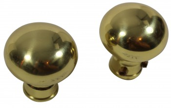 <PRE>Bright Solid Brass Colonial 2 3/8 inch Door Knob Passage Set</PRE>zoom4