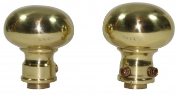 <PRE>Bright Solid Brass Colonial 2 3/8 inch Door Knob Passage Set</PRE>zoom6