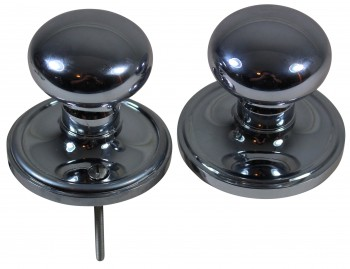 <PRE>Passage Door Set 2 3/8inch Backset Chrome Brass Knobs </PRE>zoom4