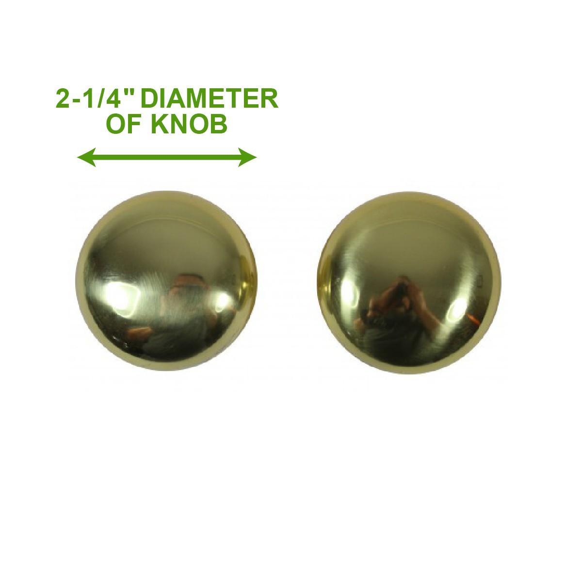 <PRE>Bright Solid Brass 2 3/8 inch Door Knob Passage Set</PRE>