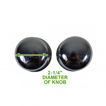 spec-<PRE>Bright Chrome 2.375in Door Knob Passage Set</PRE>