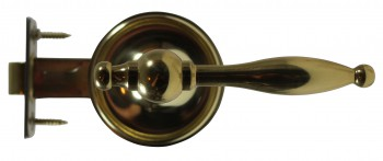 <PRE>Door Levers Bright Solid Brass Door Lever Passage Set Tapered 2 3/8 Ba</PRE>zoom3