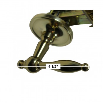 spec-<PRE>Door Levers Bright Solid Brass Door Lever Passage Set Tapered 2 3/8 Ba</PRE>