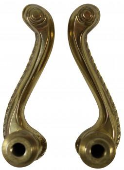 <PRE>Door Levers Bright Solid Brass Door Lever Passage Set Braided 2 3/8 Ba</PRE>zoom3