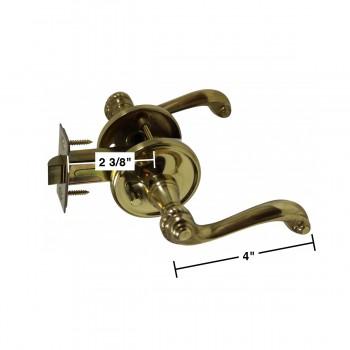 spec-<PRE>Door Levers Bright Solid Brass Door Lever Passage Set Braided 2 3/8 Ba</PRE>