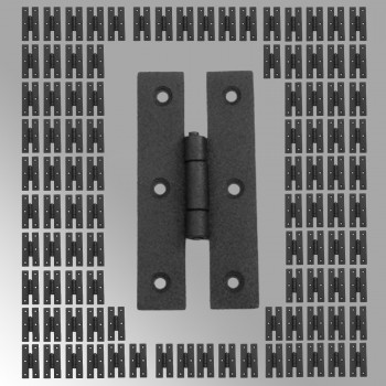 <PRE>100 Cabinet Hinge Black Iron H Flush 3'' H </PRE>