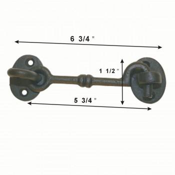 spec-<PRE>25 Cabin Hook Eye Shed Gate Door Latch Locker Holder Iron </PRE>