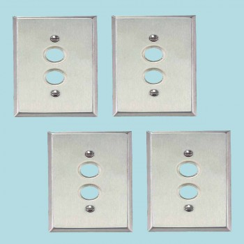 <PRE>4 Switchplate Brushed Stainless Steel 1 Pushbutton </PRE>zoom2