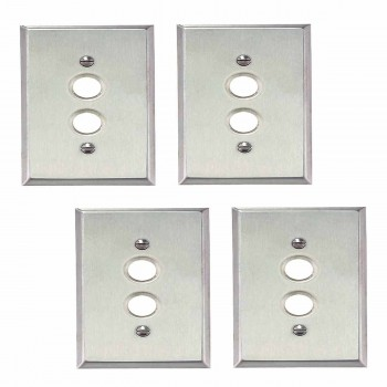 4 Switchplate Brushed Stainless Steel 1 Pushbutton Switch Plate Wall Plates Switch Plates