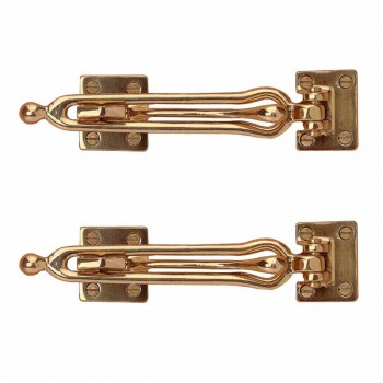 <PRE>2 Door Security Safety Guard Lock Latch Heavy Solid Brass </PRE>zoom1