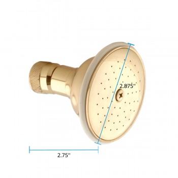 spec-<PRE>Shower Head Solid Brass Showerhead Only </PRE>