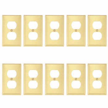 <PRE>10 Switch Plate Brushed Brass Single Outlet </PRE>zoom1