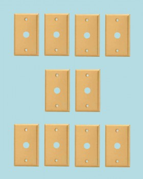 <PRE>10 Switch Plate Brushed Solid Brass 5/8inch ID Phone </PRE>zoom2