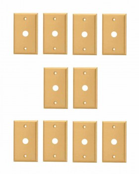<PRE>10 Switch Plate Brushed Solid Brass 5/8inch ID Phone </PRE>zoom1