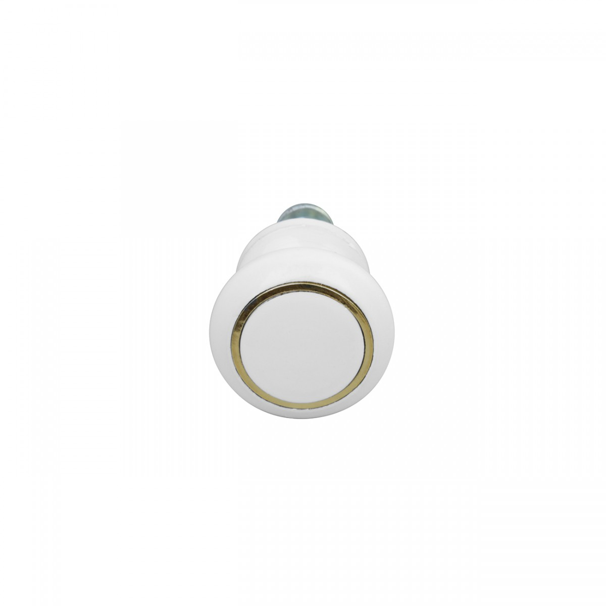 Cabinet Knobs White Enamel Over Solid Brass 1 Inch diameter 5 Pack Cabinet Knobs White Cabinet Knobs And Pulls Cabinet Knobs