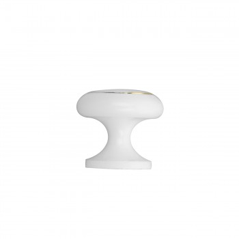 <PRE>Cabinet Knobs White Enamel Over Solid Brass 1 Inch diameter 5 Pack</PRE>zoom3
