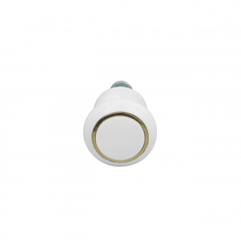 <PRE>Cabinet Knobs White Enamel Over Solid Brass 1 Inch diameter 5 Pack</PRE>zoom6