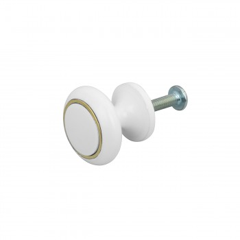 <PRE>Cabinet Knobs White Enamel Over Solid Brass 1 Inch diameter 5 Pack</PRE>zoom5
