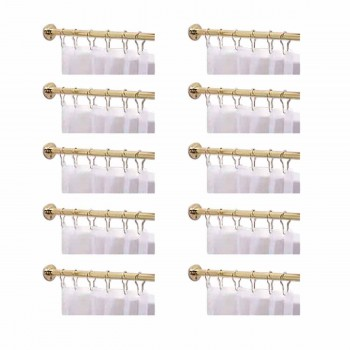 10 Shower Curtain Rod Solid Brass 5 Long Shower Rod Shower Curtain Rod Shower Curtain Rods