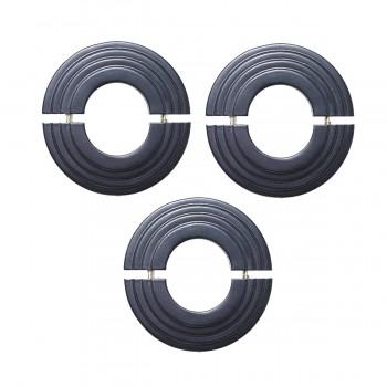 Radiator Flange Black Aluminum Escutcheon 1 11/16 ID  Pack of 3