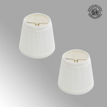 <PRE>2 Pack White Fabric Lamp Shade Clip on Shade White Fabric 4 1/16 H</PRE>