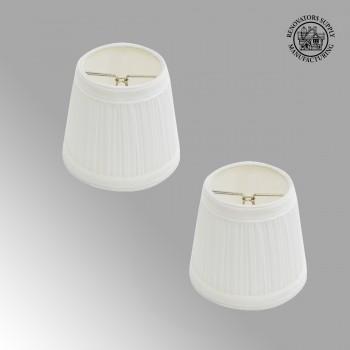 <PRE>Set of 2 Fabric Lamp Shade 4 1/16&quot; Mini Clip On </PRE>