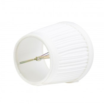 <PRE>2 Pack White Fabric Lamp Shade Clip on Shade White Fabric 4 1/16 H</PRE>zoom3
