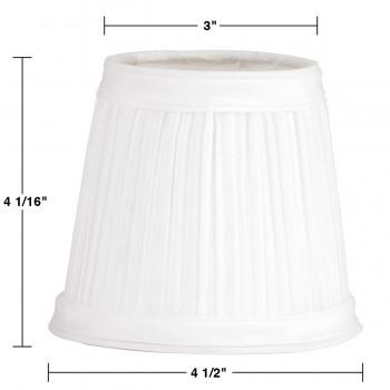 spec-<PRE>Set of 2 Fabric Lamp Shade 4 1/16&quot; Mini Clip On </PRE>