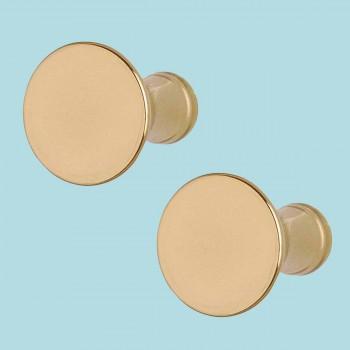 <PRE>2 Cabinet Knob Classic Brass 1inch Dia </PRE>zoom2