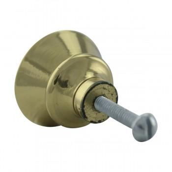 <PRE>2 Cabinet Knob Classic Brass 1inch Dia </PRE>zoom9